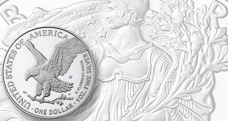 Proof 2021 American Eagle silver dollar