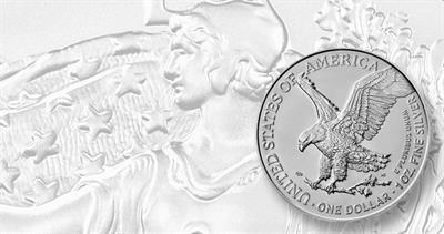 2021 Reverse of 2021 silver American Eagle bullion
