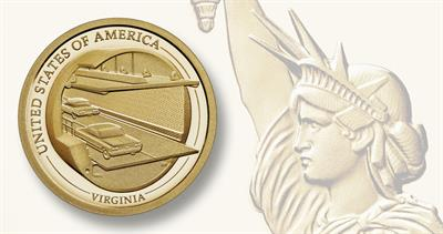 2021-S American Innovation dollar for Virginia
