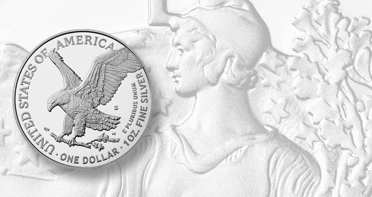 Proof 2021-S American Eagle silver dollar