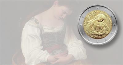 2021 San Marino coin honoring Caravaggio