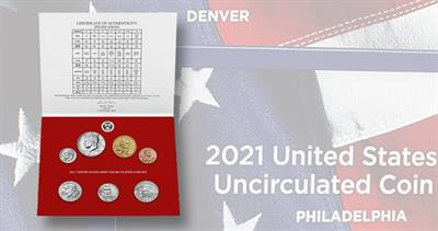 2021 Uncirculated Coin set