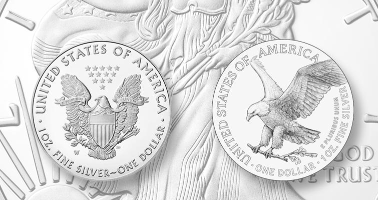 2021 silver American Eagle reverses