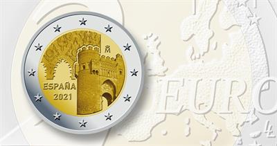 2 euro coin honoring Old Toledo