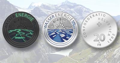 2021 Switzerland silver 20-franc hydropower coin