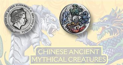 2021 Tuvalu silver ancient mythical Chinese coin