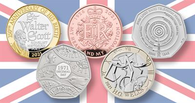 United Kingdom commemoratives for 2021