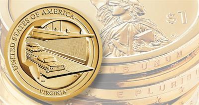 2021 American Innovation dollar coin for Virginia