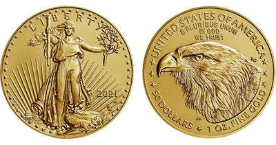 2021-W American Eagle gold