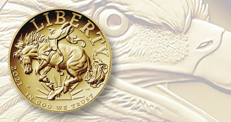 2021-W American Liberty gold coin