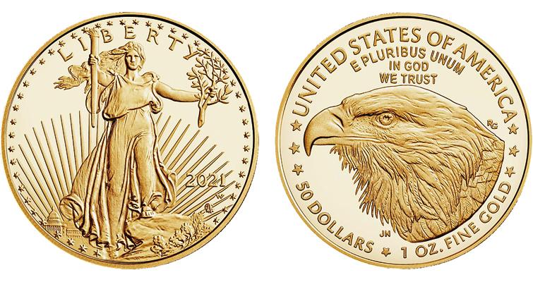 2021-W Proof gold American Eagle