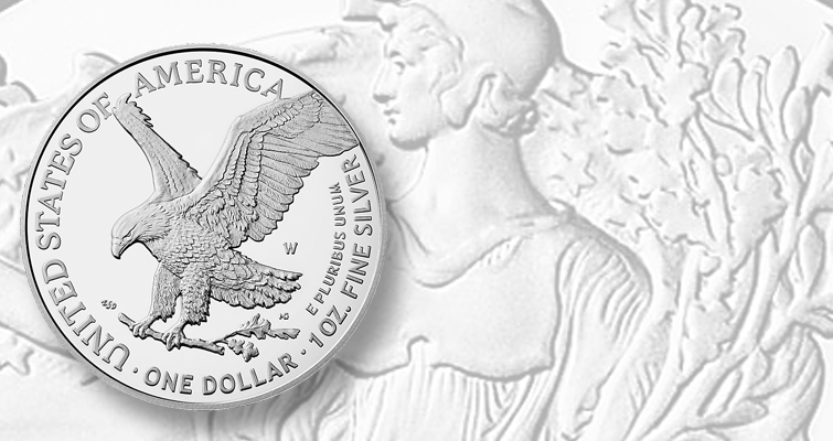 2021-W Reverse of 2021 Proof silver American Eagle