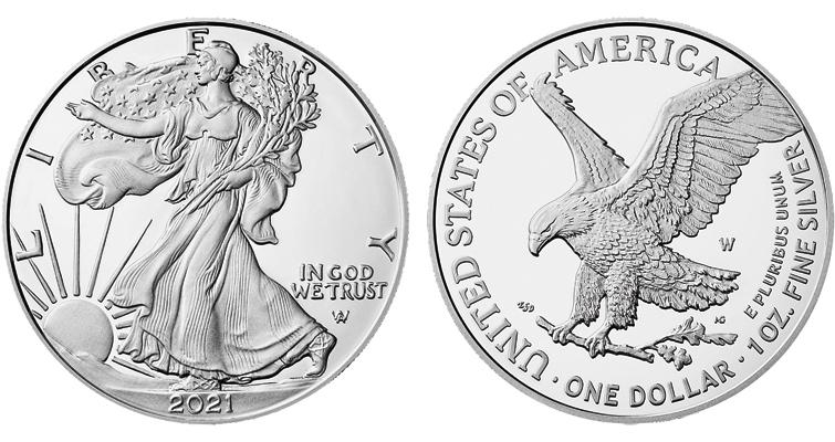 2021-W Reverse of 2021 silver American Eagle
