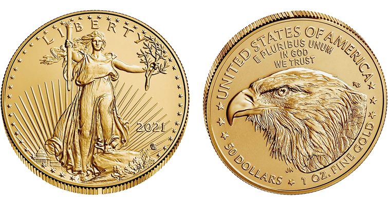 2021-W Uncirculated gold American Eagle