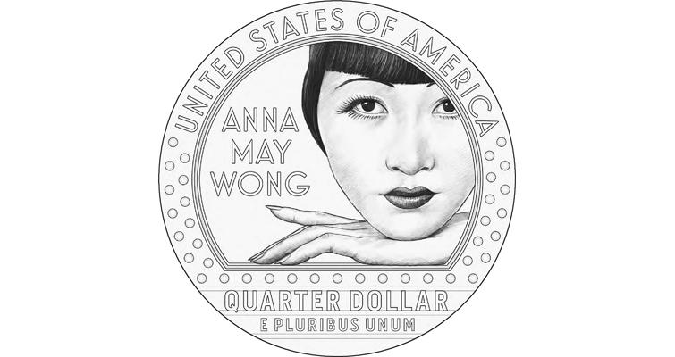 2022 Anna May Wong quarter dollar