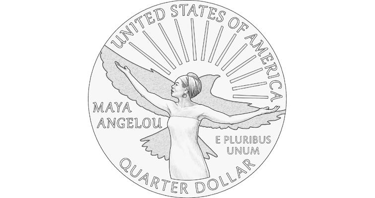 2022 American Women quarter dollar featuring Maya Angelou