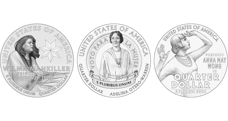 2022 American Women quarter dollar designs