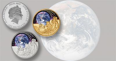 2022 Blue Marble coins from Niue