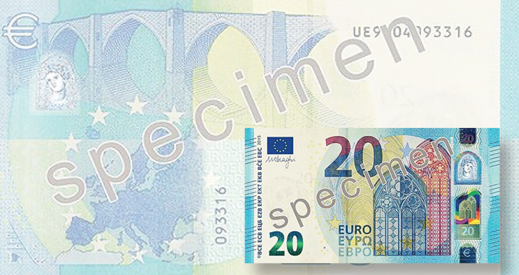 New 20 Euro Note Entering Circulation In Eurozone