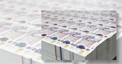 Counterfeit 20-pound notes