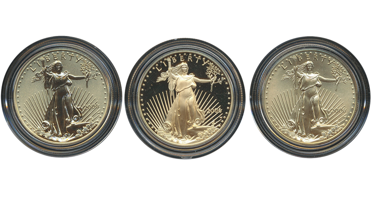 20th Anniversary 3-coin set HA obverses