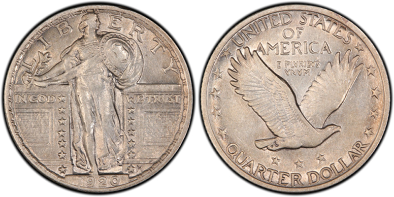 A 1920 Standing Liberty quarter dollar, similar to this one, is among the recent numismatic purchases our Coin World Facebook fans told us about.