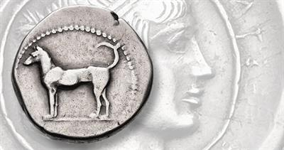 Silver didrachm from Sicily