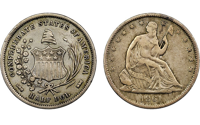 Two original Confederate half dollars to make history in 2015