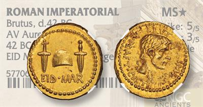 Gold Aureus Ides of March coin