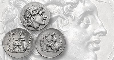 Tetradrachms showing Alexander the Great