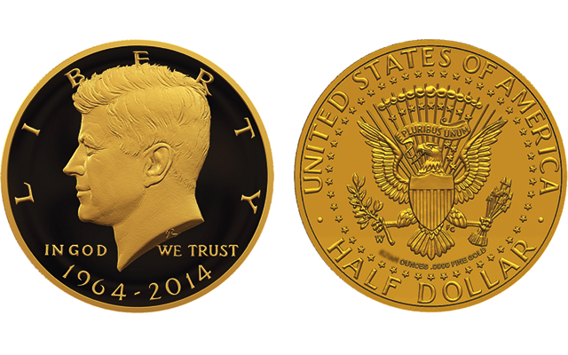 United States Mint planning to release seven 50th anniversary Kennedy half dollars in 2014