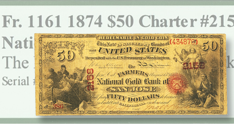 California national gold bank notes
