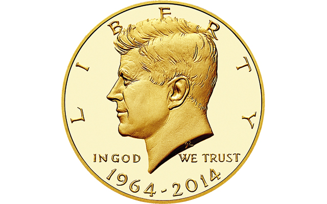 U.S. Mint sets price of $1,240.00 for gold Proof 2014 Kennedy half dollar