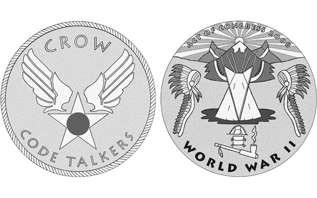 Commission of Fine Arts recommends designs for Crow Tribe Code Talkers congressional gold medal