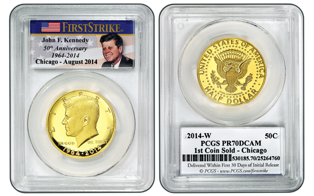 First gold Kennedy half dollar sold at ANA convention resold for $100,000