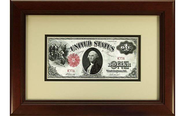 Displaying paper money requires using safe matting, framing and mounting