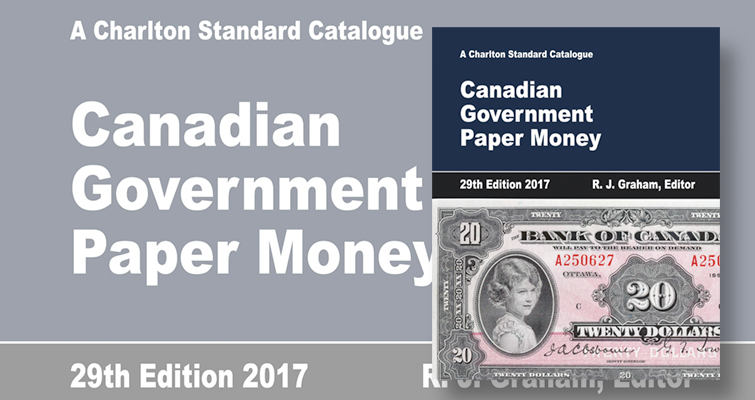 Charlton guide to Government Canadian notes revision available in August