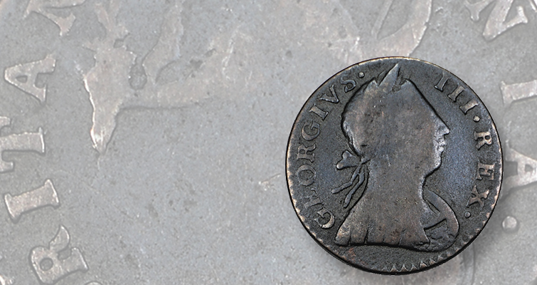 A hegemony of halfpence among coppers: Colonial America
