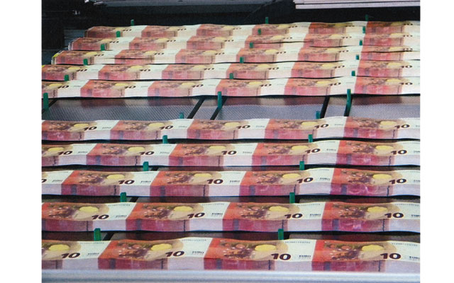 New 10-euro banknotes officially released into circulation Sept. 23 by the ECB