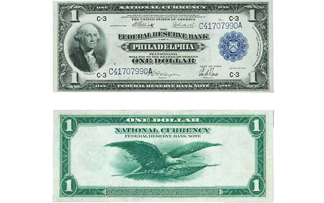 Series 1918 $1 Federal Reserve Bank note in Stack's Bowers Galleries online auction closing April 27