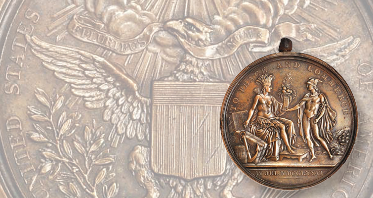 A rare bronze medal of early America one of few issues extant: Colonial America