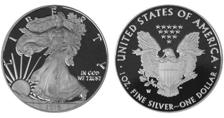Proof 2016-W silver American Eagle merged