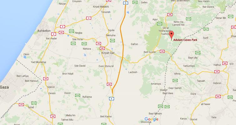 adulam-caves-park-map