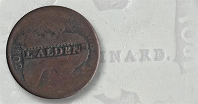 Counterstamped Draped Bust large cents