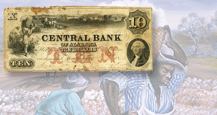 Traveling exhibit exploring scenes of slavery on notes in Cincinnati