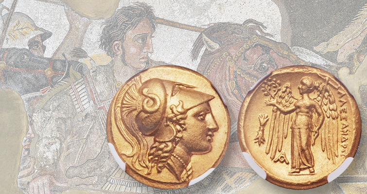 Alexander the Great gold distater was used to pay soldiers