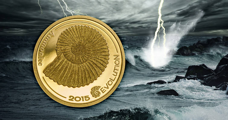 ammonite-evolution-of-life-gold-mongolia-1000-togrog-coin