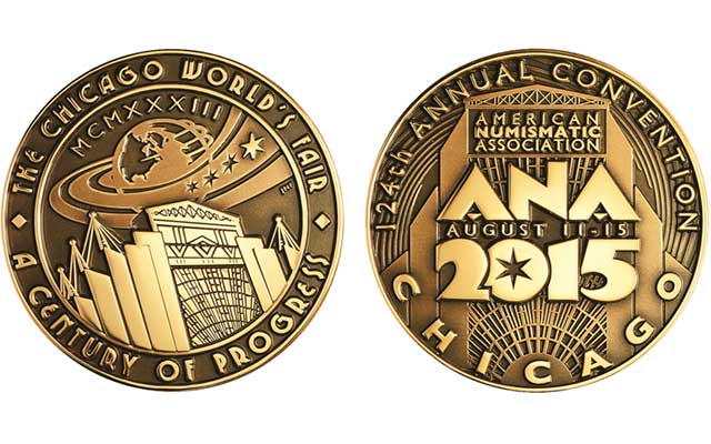 Medal being issued in conjunction with the ANA World's Fair of Money promotes the largest coin convention of the year, set for Aug. 11 to 15 in Rosemont, Ill., near Chicago.