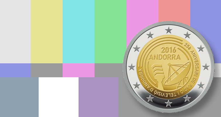 Andorra issues €2 coin for public media's 25th anniversary