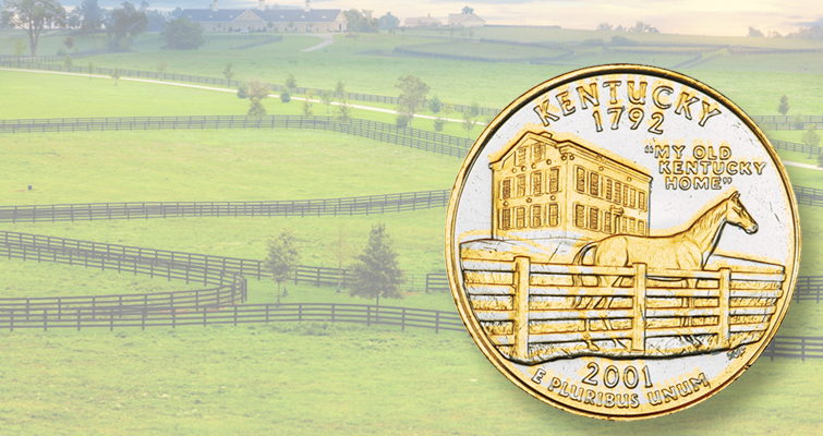 What is the value of gold- and platinum-plated State quarters?